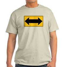 Two-Way Sign On A T-Shirt