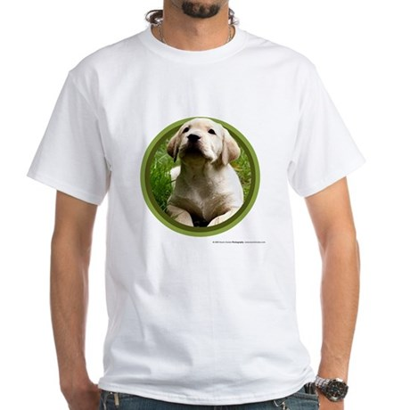 Yellow Lab Puppy White T-Shirt