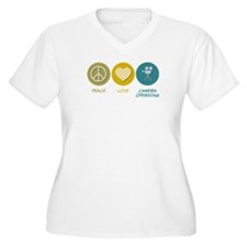 Peace Love Camera Operating T-Shirt