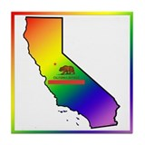 GLBT California Tile Coaster