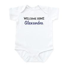 Welcome Home Alexandra Infant Bodysuit