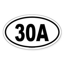 30A Oval Decal