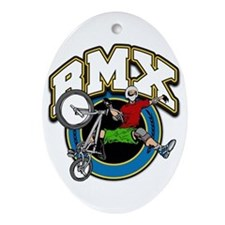 BMX Logo Oval Ornament