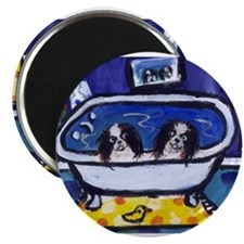 "JAPANESE CHIN bath 2.25"" Magnet (100 pack)"