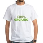 100 percent organic White T-Shirt