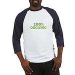 100 percent organic Baseball Jersey
