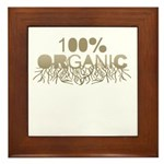 100% Organic Framed Tile