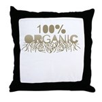 100% Organic Throw Pillow