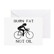 Burn fat not oil Greeting Cards (Pk of 20)