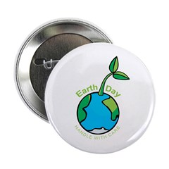 """Earth Day T-shirts 2.25"""" Button (100 pack)"""