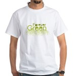 Forever Green White T-Shirt