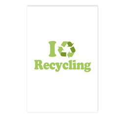 I Love Recycling Postcards (Package of 8)