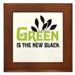 Green is the new black Framed Tile