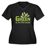 Green is the new black Women's Plus Size V-Neck Da