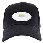 Green Black Cap