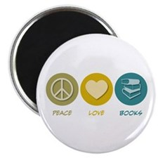 "Peace Love Books 2.25"" Magnet (10 pack)"