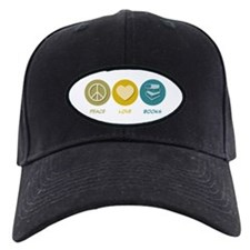 Peace Love Books Baseball Hat