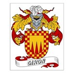 Giron Family Crest Small Poster