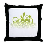 Go Green Throw Pillow