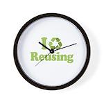 I Love Reusing Wall Clock