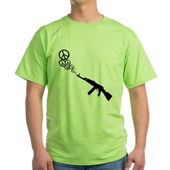Peace Gun Green T-Shirt
