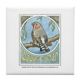Zebra Finch Tile Coaster