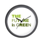 The Future is Green Wall Clock