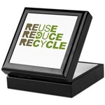 Reuse Reduce Recycle Keepsake Box