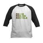 Reuse Reduce Recycle Kids Baseball Jersey