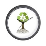 Recycling Tree Wall Clock