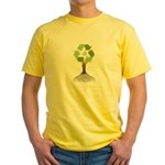 Recycling Tree Yellow T-Shirt