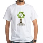 Recycling Tree White T-Shirt