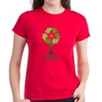 Recycling Tree Women's Dark T-Shirt