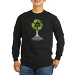 Recycling Tree Long Sleeve Dark T-Shirt