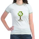 Recycling Tree Jr. Ringer T-Shirt