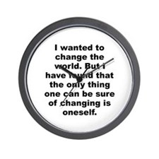 Aldous huxley quote Wall Clock