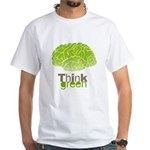 Think Green White T-Shirt