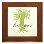 Tree Hugger Shirt Framed Tile