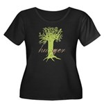 Tree Hugger Shirt Women's Plus Size Scoop Neck Dar
