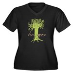 Tree Hugger Shirt Women's Plus Size V-Neck Dark T-