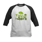 Trees are for hugging Kids Baseball Jersey