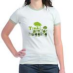 Trees are for hugging Jr. Ringer T-Shirt