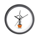 Wind Flower Wall Clock