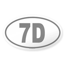 7D Oval Decal