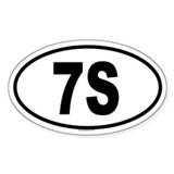 7S Oval Decal