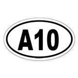 A10 Oval Decal
