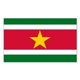 Surinam Rectangle Sticker 10 pk)