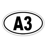 A3 Oval Decal
