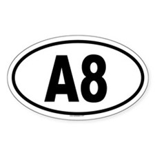 A8 Oval Decal