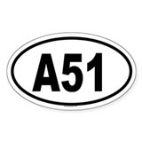 A51 Oval Decal